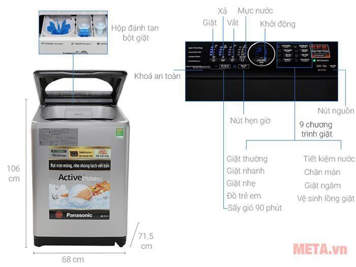 Máy Giặt PANASONIC NA-F115V5LRV