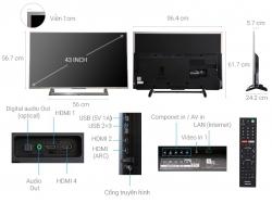 Tivi 4K SONY 43 Inch KD-43X8000E