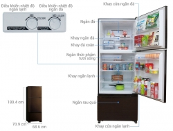 Tủ lạnh Mitsubishi MR-V50EH-BRW